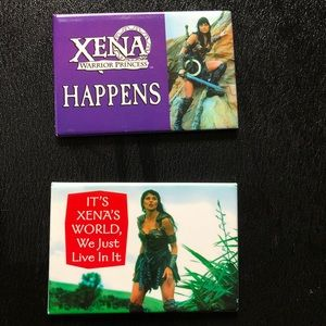 Vintage Xena Warrior Princess Magnets -Official